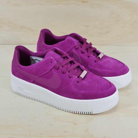 best sneakers 62a0b 63585 New Nike Air Force 1 Sage Low Suede Platform Shoes NWT